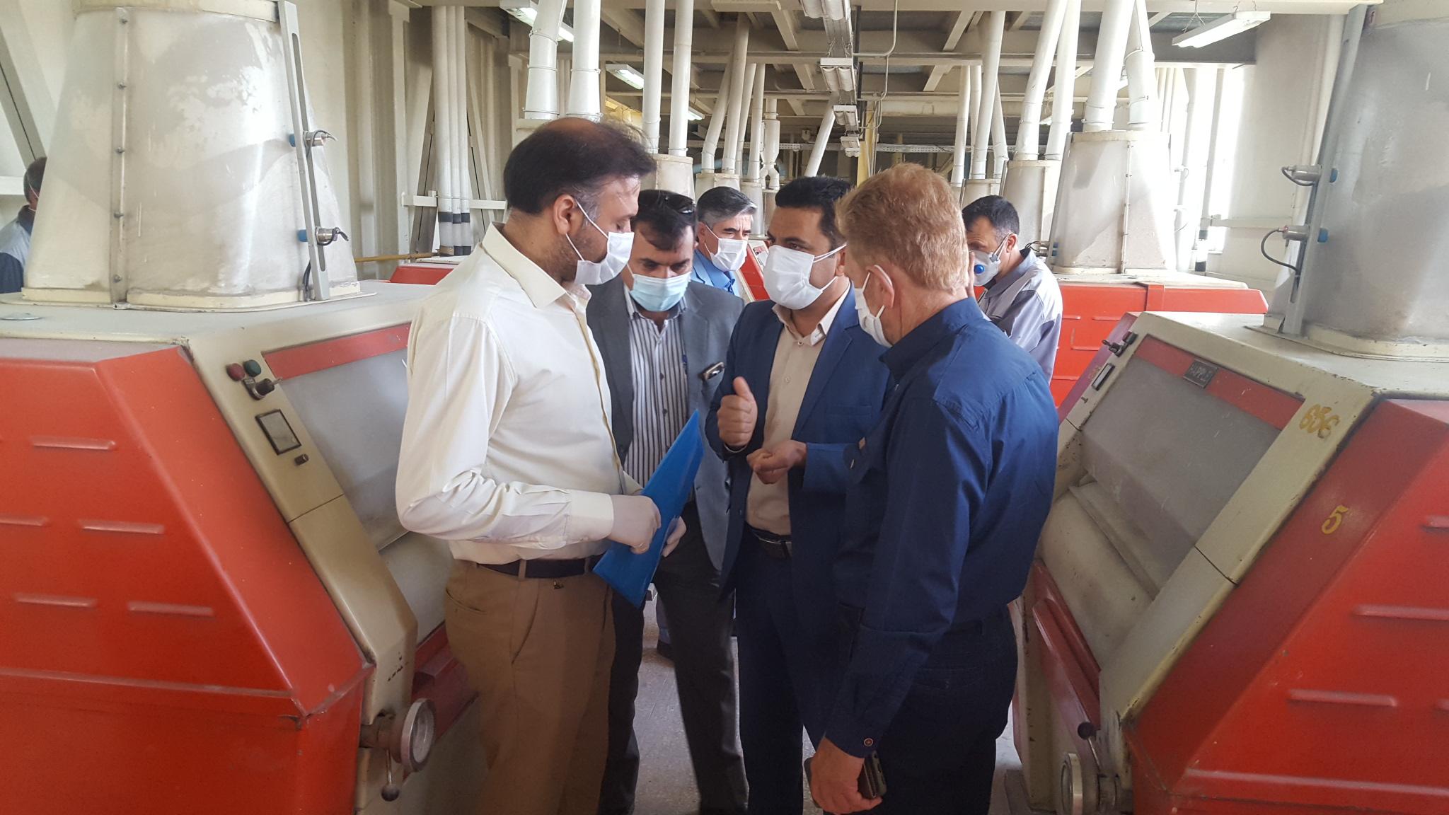 بازدید از کارخانجات تولیدی آرد استان :