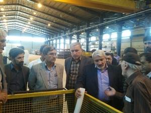 بازدید مدیرکل حراست وزارت صنعت معدن و تجارت از واحدهای صنعتی استان